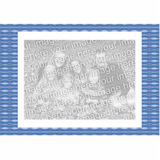 blue pattern design photo cut outs