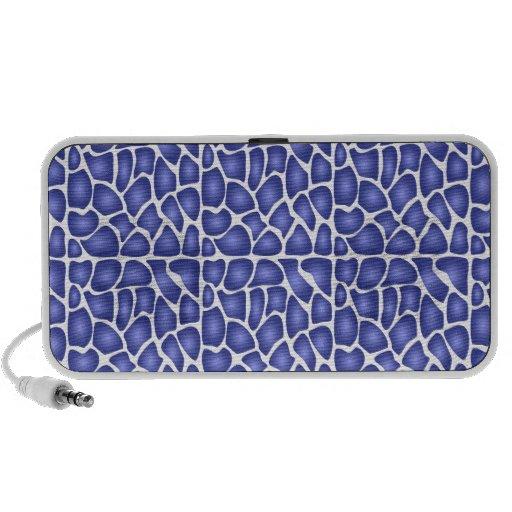 Blue Pattern Travel Speakers