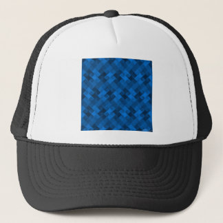 Blue Pattern Trucker Hat