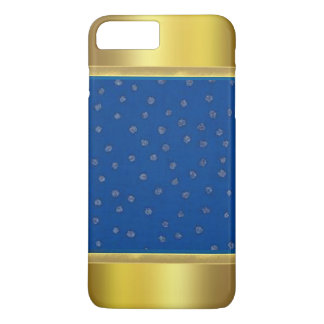 Blue Pattern with Gold Tips iPhone 7 Plus Case