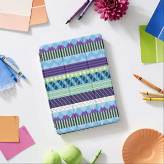 Blue Patterned iPad Cover