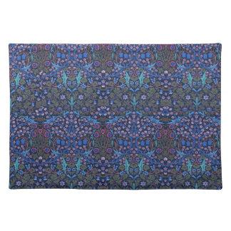 Blue Patterned William Morris Art Nouveau Placemat