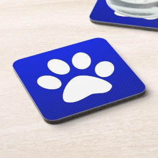 Blue Paw Print Coaster