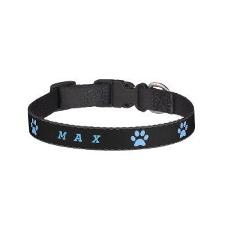 Blue Paw print Dog Collar