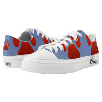 blue paw print shoes