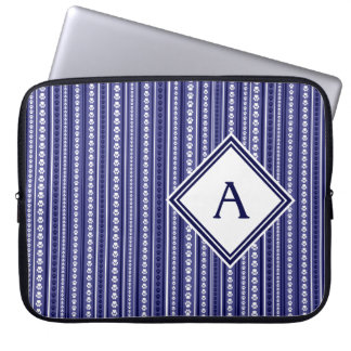 Blue Paw Print Stripe Laptop Case Laptop Computer Sleeve