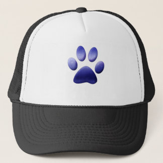 Blue Paw Print Trucker Hat