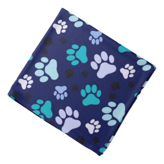 Blue Paw Prints | Dog Bandana