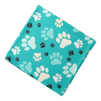 Blue Paw Prints   Dog Bandana
