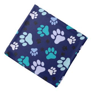 Blue Paw Prints   Dog Do-rag