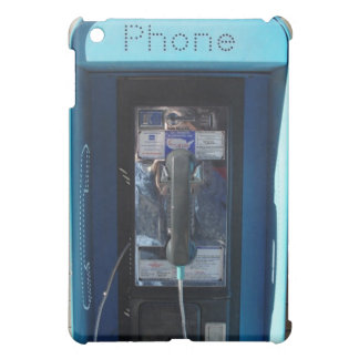 BLUE PAY PHONE PHOTO PRINTED iPad MINI COVER