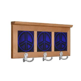 Blue Peace Coat Racks