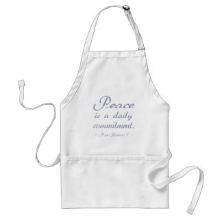 Blue Peace is a Daily Commitment Standard Apron