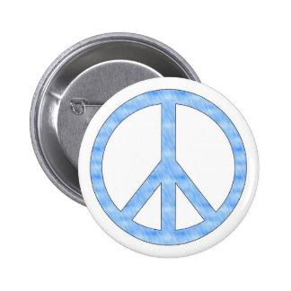 Blue Peace Sign Button