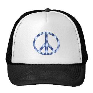 Blue peace sign cap