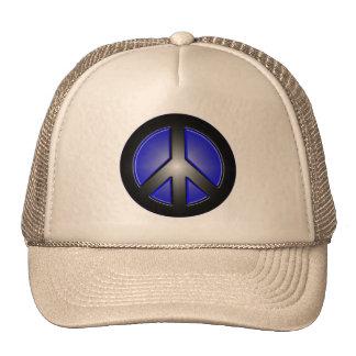 blue peace sign hats