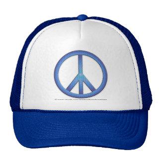 Blue Peace Sign Hat