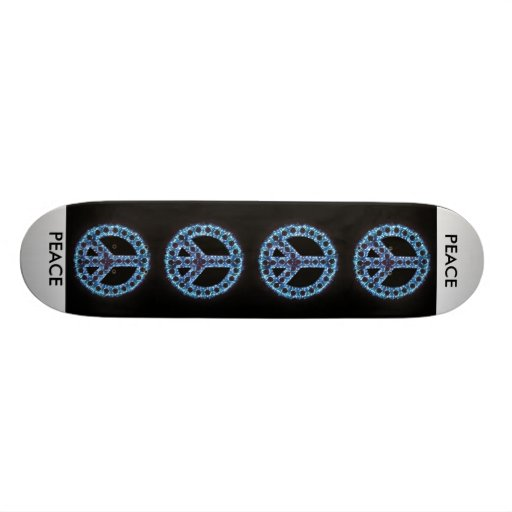 blue peace sign skateboard