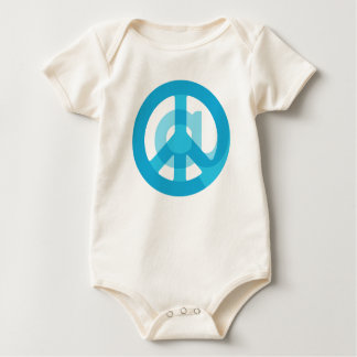 Blue @Peace Sign Social Media At Symbol Peace Sign Baby Bodysuit