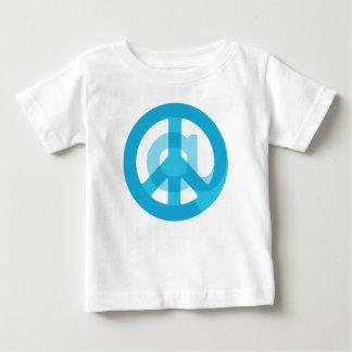 Blue @Peace Sign Social Media At Symbol Peace Sign Baby T-Shirt