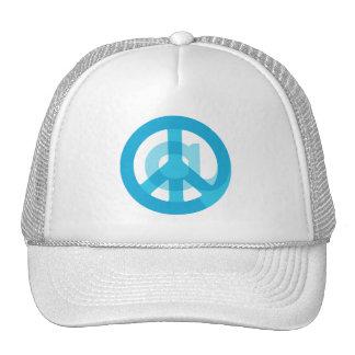 Blue @Peace Sign Social Media At Symbol Peace Sign Cap