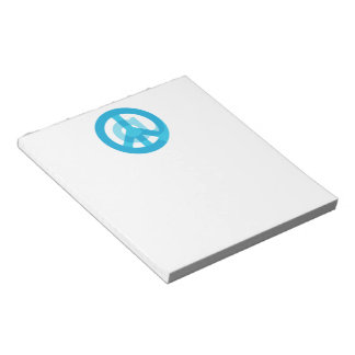 Blue @Peace Sign Social Media At Symbol Peace Sign Notepads