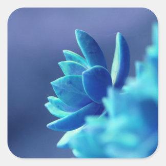 Blue Peace Square Sticker