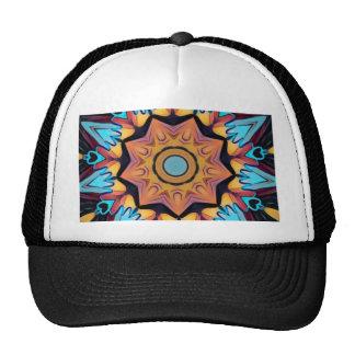 Blue Peach Artistic Mandala Cap