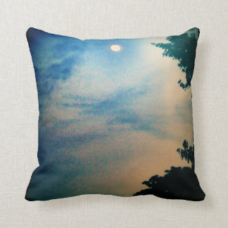 BLUE & PEACH MOON SKY PILLOW Type 2 Black Back
