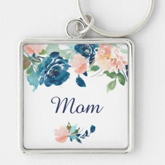 Blue Peach Watercolor Roses Mom