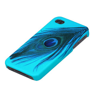Blue Peacock Feather Cases For iPhone 4