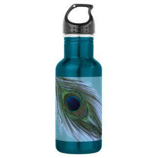 Blue Peacock Feather D 532 Ml Water Bottle