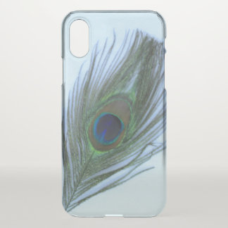 Blue Peacock Feather iPhone X Case