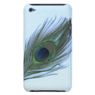 Blue Peacock Feather iPod Barely There Case