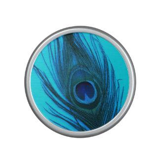 Blue Peacock Feather Speaker