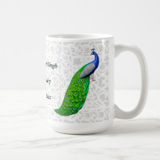 Blue Peacock Indian Wedding Customizable Mug