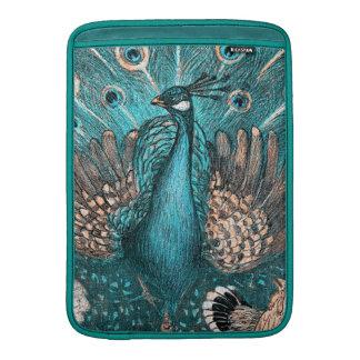 blue peacock MacBook sleeve