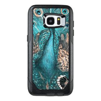 blue peacock OtterBox samsung galaxy s7 edge case