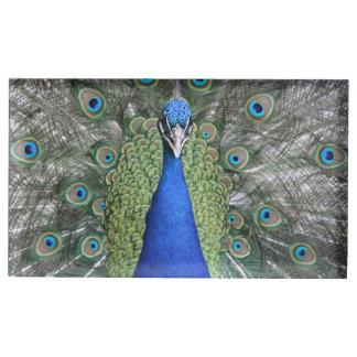 Blue Peacock Portrait Table Number Holder