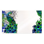 Blue Peacock Profile Card Double-Sided Standard Business Cards (Pack Of 100)