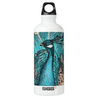 blue peacock water bottle