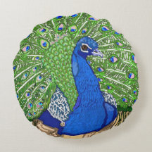 Blue Peafowl, Watercolor