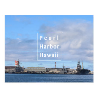 blue Pearl Harbor postcard