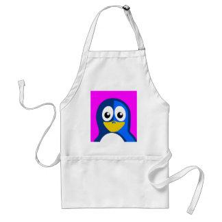 Blue Penguin on Purple Standard Apron