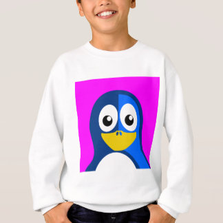 Blue Penguin on Purple Sweatshirt