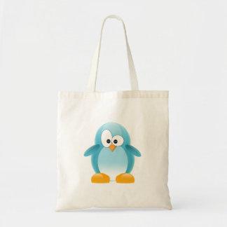 Blue Penguin Tote Bags