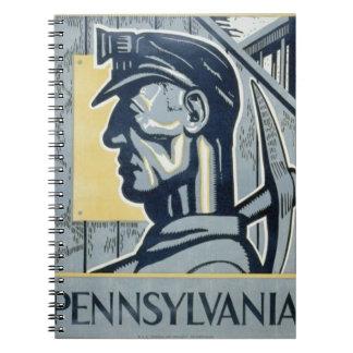 Blue Pennsylvanian Coal Miner Notebook