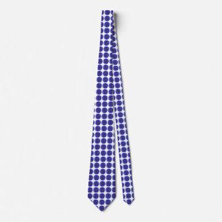 Blue Penstemon Polka Dot Pattern Tie