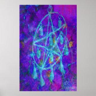 Blue Pentacle Royale by JudyMarisa Poster