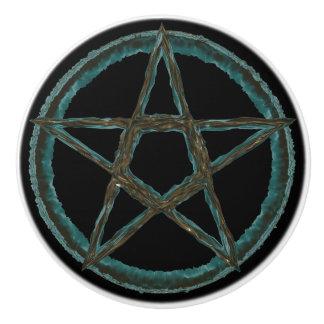 Blue Pentagram Custom Ceramic Knob